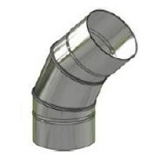 Koleno kouřovodu nerez stálé ø 150mm / 45° 0,6mm
