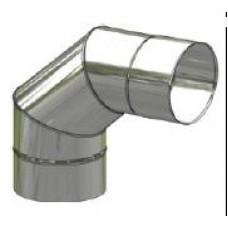 Koleno kouřovodu nerez stálé ø 180mm / 90° 0,6mm
