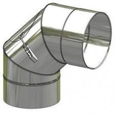 Koleno nerez stálé ø 180 mm / 90° s čistícím otvorem